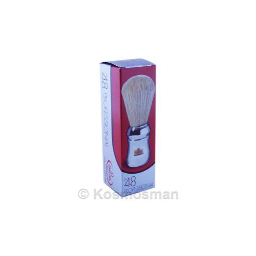 Omega Πινέλο Ξυρίσματος Χοίρου Ασημί Πλαστική Λαβή 1