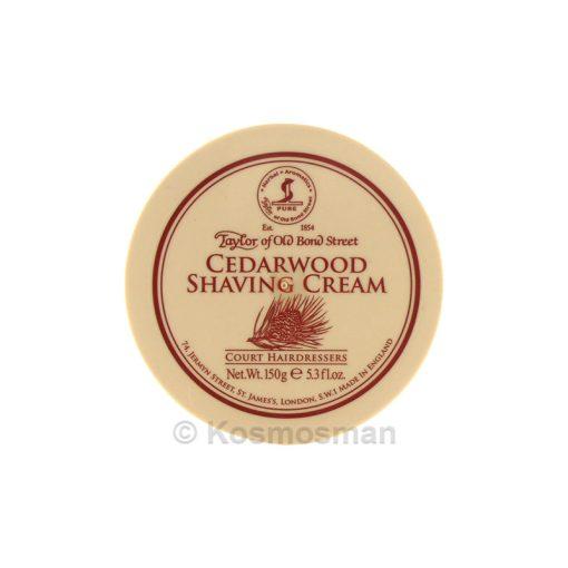 Taylor of Old Bond Street Shaving Cream Cedarwood 150g.