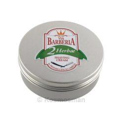 Via Barberia Omega Herbae Κρέμα Ξυρίσματος σε Μπολ 125ml.