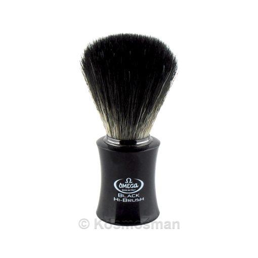 Omega 196818 Πινέλο Ξυρίσματος Συνθετικό Hi-Brush Μαύρο.