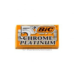 Bic Chrome Platinum Double Edged Razor Blades 5pcs.