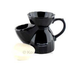 Cyril R Salter Μαύρη Παραδοσιακή Κούπα Ξυρίσματος με Λαβή.