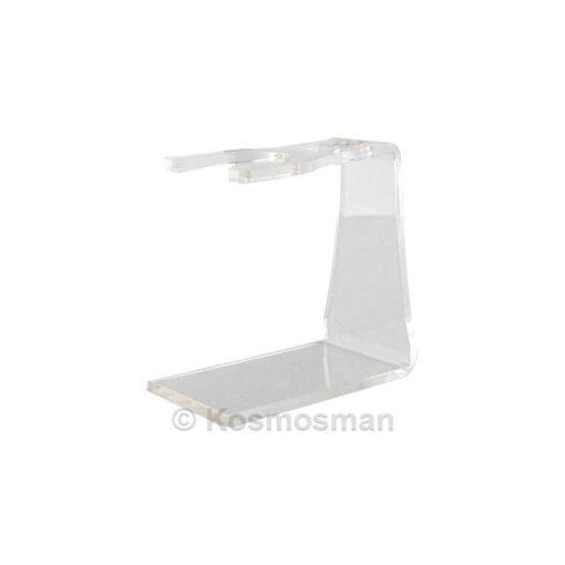 KOSMOSMAN Βάση XL Ακρυλική Διπλή Διαφανές για Μηχανή και Πινέλο Ξυρίσματος.