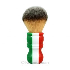 RazoRock Plissoft Italian Barber Three Color Synthetic Shaving Brush.