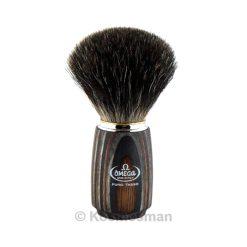 Omega 6752 Black Badger Shaving Brush.