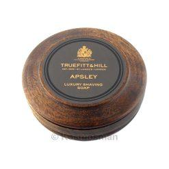 Truefitt and Hill Apsley Luxury Shaving Soap In Wooden Bowl 99g.
