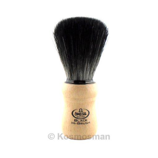 Omega 196228 Black Hi-Brush Shaving Brush Wood.