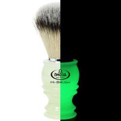Omega 46800 Φωσφορούχο Πινέλο Ξυρίσματος Συνθετικό Hi-Brush.