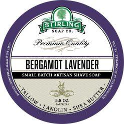 Stirling Soap Co. Περγαμόντο/Λεβάντα Σαπούνι Ξυρίσματος σε Μπολ 170ml.