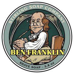 Stirling Soap Co. Ben Franklin Σαπούνι Ξυρίσματος σε Μπολ 170ml.