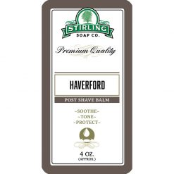 Stirling Soap Co. Haverford Μετά το Ξύρισμα Βάλσαμο 118ml.
