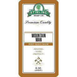 Stirling Soap Co. Mountain Man Μετά το Ξύρισμα Βάλσαμο 118ml.