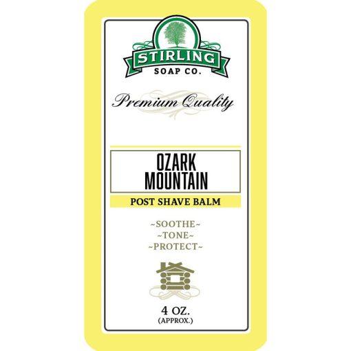 Stirling Soap Co. Ozark Mountain Μετά το Ξύρισμα Βάλσαμο 118ml.