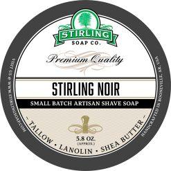 Stirling Soap Co. Stirling Noir Σαπούνι Ξυρίσματος σε Μπολ 170ml.