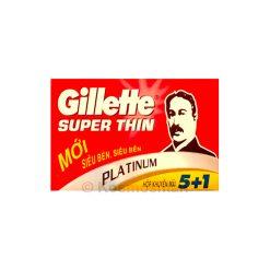 Gillette Super Thin Platinum Double Edge Blade 6pcs.