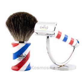 Barber Pole Σετ Ξυρίσματος Black Badger 3τμχ.