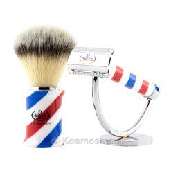 Barber Pole Σετ Ξυρίσματος Συνθετικό Hi-Brush 3τμχ.